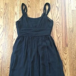 Banana Republic Sheer Black Silk Dress